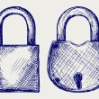 Closed locks security icon — Stock Photo #13579114