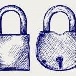 Closed locks security icon — Stock Photo #13579114