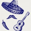 MexicSymbols — Stock Photo #13579132