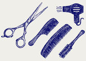 Scissors and Comb for hair — Stock Photo