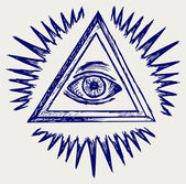 All seeing eye — Stock Photo