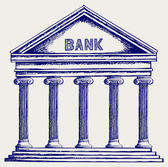 Bank. Colonnade — Stock Photo