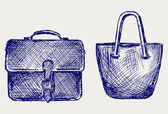 Bags sketch — Stock Photo