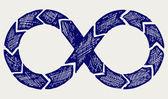 Símbolo del infinito — Foto de Stock