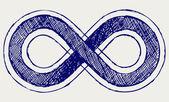 Oändlighetssymbolen — Stockfoto