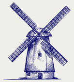 Windmill sketch — Stock Photo