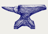Anvil sketch — Stock Photo