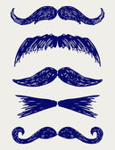 Mustache sketch — Stock Photo