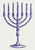 Hanukkah menorah — Stock Photo