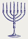 Menorah hanukkah — Foto de Stock