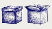 Empty, cardboard box — Stock Photo