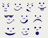 Set of smileys — Stock Photo