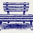 Wooden bench — Stock Photo #13595835