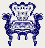 Deri kaplamalı ahşap sandalye — Stok fotoğraf