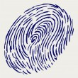 Vector de stock : Finger print