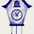 Cuckoo Clock — Vector de stock #17594861