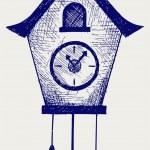 布谷鸟钟 — 图库矢量图片