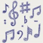Vector musical notes — Stock Vector