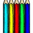 Colour pencils — Stock Vector