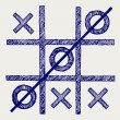 Stock Vector: Tic tac toe
