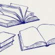 Wektor stockowy : Vector illustration of books