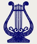 Illustration of lyre — Stock Vector