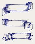 Afiş ve şeritler — Stok Vektör