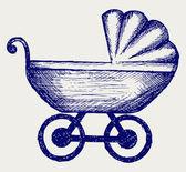 Wózek. doodle styl — Wektor stockowy