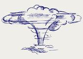 Atomic explosion — Stock Vector