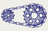 Chain gears — Stock Vector