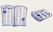Periódico — Vector de stock