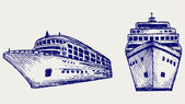 Cruise ship — Vector de stock
