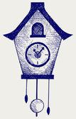 Cuckoo Clock — Stock Vector