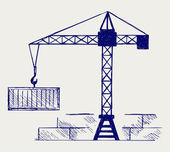 Crane working — Stockvector