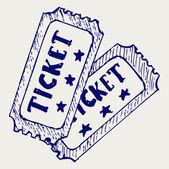 Cinema ticket — Stock Vector