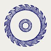 圆锯片κυκλική πριονωτή λεπίδα — 图库矢量图片