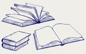 Vector illustration of books — Vettoriale Stock