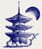 Buddhist Zen Temple — Stock Vector
