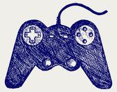 Gamepad joystick game controller — Stock Vector