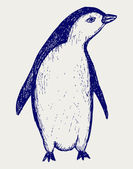 Penguin sketch — Stock vektor