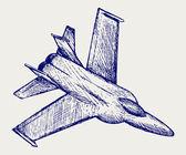Kämpfer-Vektor — Stockvektor