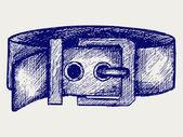 Man's belt — Stock Vector