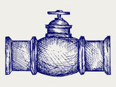 Industrial pipeline part — Stock Vector