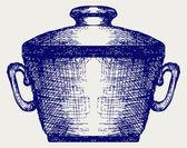 Steel pot — Stock Vector