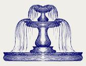 Fountain vector — Stock Vector