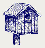 Nest box birdhouse — Vector de stock