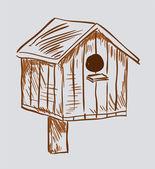 Nest box birdhouse — Stock Vector