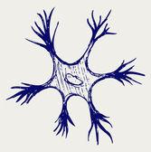 Illustration neuron — Stock Vector