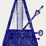音乐节拍器 — 图库矢量图片