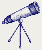 Telescope in tripod — Vector de stock
